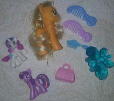 Hasbro My Little Pony Ponyville Apple Jack Lot Ponies &  Accessories MLP FIM