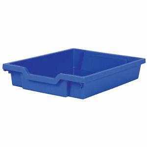 Gratnells Shallow Education Storage Tray 312 x 427 x 75mm Royal Blue