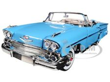 1958 CHEVROLET IMPALA BLUE TIMELESS CLASSICS 1/18 DIECAST CAR BY MOTORMAX 73112