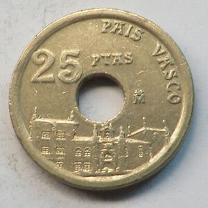 Spain 25 Pesetas 1993 Aluminum-Bronze KM#920
