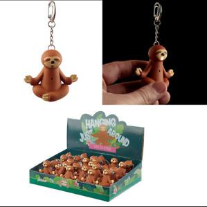 Sloth LED Light and Sound Novelty Keyring Party Bag Filler Key Charm