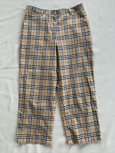 Burberry Golf Nova Check Plaid Capri Crop Pants womens 6