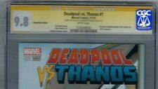 CGC 9.8-SS STAN LEE Auto/Signed on 9/11/15! DEADPOOL vs THANOS #1, H&F Exclusive