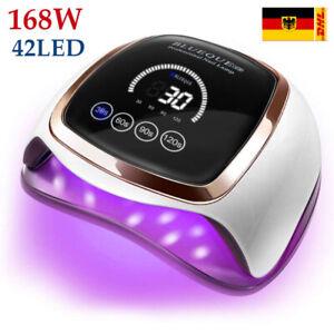 LED UV 168W Nagel Lampe Gel Lichthärtungsgerät Sensor Nageltrockner mit 4 Timer