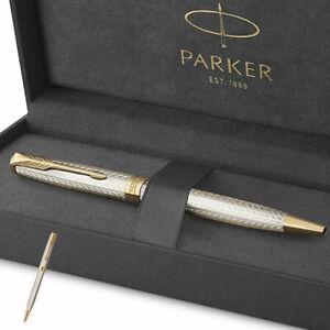 Parker Sonnet Premium Silver Mistral Silver x Gold Color KH08939