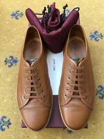 John Lobb Mens Brown Leather Levah Shoes UK 6 US 7 EU 40 Trainers Sneakers