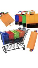 Heavy Duty Reusable Shopping Cart Trolley Bags Set of 4.