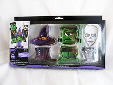 Wilton Halloween Party Metal Cookie Cutters Set Frankenstein Witch Hat Skeleton