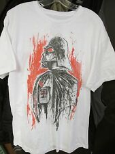 STARWARS DARTH VADER MEN'S WHITE L T-SHIRT  /NEW; FREE SHIPPING