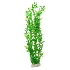 Green Plastic Plants Aquarium Tank Decoration, 20-Inch Long W9Y8