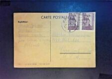 Poland 1947 Postcard to USA w/ 3ZT Pair - Z908