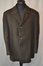 Vintage 1960's brown LLama and wool heavy coat size XL made England