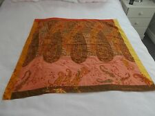 VINTAGE BENETTON 35 INCH SQUARE POLYESTER SCARF