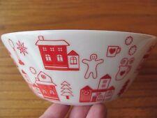 Arabia Finland Christmas Village Plate Teema 2012 Red White