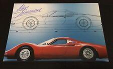 Autographe Photo Signed Chef Designer Pininfarina Aldo Brovarone Ferrari Dino