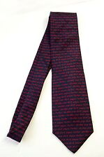 ALYNN NECK WEAR Daddy Silk Tie Navy Blue Red New RETIRED Father Day Dad SHORT