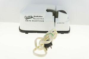 Vintage Oster Double Action Electric Knife Sharpener Works Great! Model 500