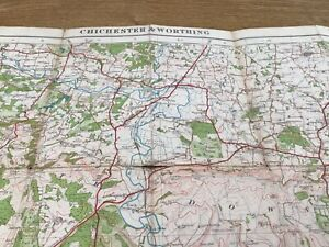 Ordinance Survey Map Dated 1929 Chichester Worthing. 133 See Scans