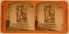 ODD FELLOWS HALL PAINTING S C REED GEORGETOWN MA STEREOVIEW 1800'S