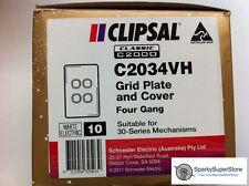 Clipsal Classic C2034 Quad / 4 Gang Plate - 10 Bulk Pack GENUINE NEW CLIPSAL
