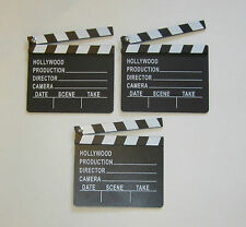 3 NEW MOVIE DIRECTOR'S CLAPBOARD PROP HOLLYWOOD CLAPPER CHALKBOARD PARTY DECOR