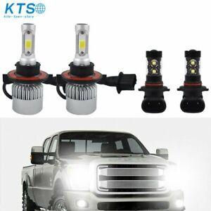 H13 LED Headlight+9145 H10 Fog for 05-19 Ford F-150 F-250 F-350 Super Duty 04-14