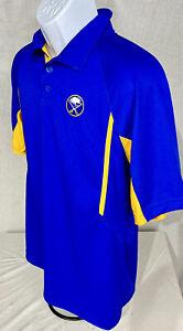 NWT BUFFALO Sabres Royal Blue Polo Shirt Golf Embroidered Logo Medium SHARP!!!