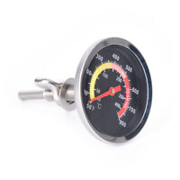Barbecue BBQ Smoker Grill Stainless Steel Temperature Thermometer Gauge FL