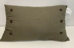 HiEnd Accents Piedmont Accent Pillow Large Grey Green 21x34 inches Polyester NEW