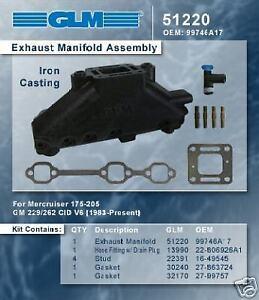 Mercury Mercruiser V6 4.3L Tuned Galvanzied Manifold