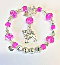 Personalised Jewellery Pug Dog Lovers Silver Heart Charm Bracelet Birthday Gift