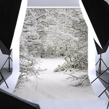 5x7ft Winter Snow Ice Backdrop Photography Background Material Photo Studio Accs