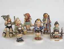 6 Hummel Goebel Figurine Lot Mountaineer, Home From Market, Wayside Harmony