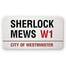Streetname Desire 75 x 40 cm Stove Enameled Mild Steel 'Sherlock Mews' City of W