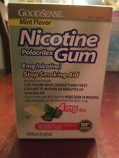 Nicotine Polacrilex Gum mint flavor 4mg 110 pcs Good Sense  Exp 4/2020