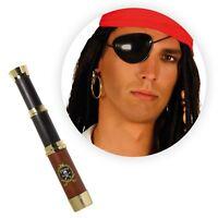 Boys Pirate Telescope Plastic Eaaring Eyepatch Halloween Fancy Dress Toy Set