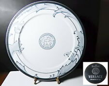 "Versace Rosenthal ARABESQUE ICE Large 13"" Charger, Round Platter, New in Box"