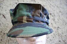 USMC US MARINE CORPS RIPSTOP WOODLAND BDU CAMO COMBAT CAP 8 POINT COVER SIZE XL