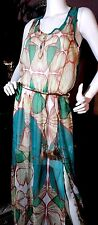 "DESIGUAL ""For Everyone"" DRESS, LONG SHEER FLORAL, Fully Lined, SIZE 4 -FREE SHIP"