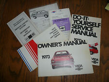 1973 Chevrolet Vega Owner's Manual Package Do-It-Yourself Manual Color Chart OEM