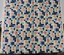 ANTIQUE 1930'S FLORAL PRINT COTTON FABRIC OLD STOCK