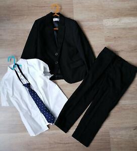 Anzug Junge (komplett) 4 teilig- Sakko/ Anzughose/ Kravatte/ Hemd Größe 116
