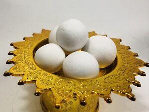 5X Pcs  WHITE LEKLAI CAVE PEARL Relic ARAHANT Natural STONE  MAGIC THAI AMULET