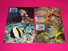1986 WWF Maldives Marine Angel Fish Official Maxi Stamp Card Set