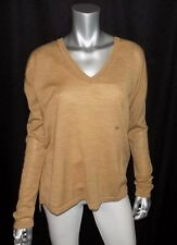 LANE BRYANT NEW Camel Brown V-Neck Merino Wool Blend Sweater Plus sz 14/16W