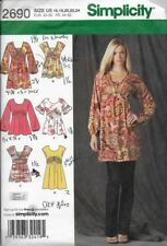 Simplicity Sewing Pattern 2690 Misses' Pullover MINI DRESS or TUNIC sz 16 to 24