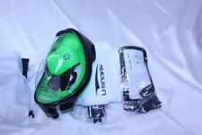 Full Face Snorkel Mask Kit Green / Black Size S/M with Carry Bag