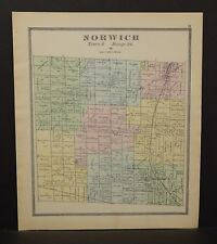 Ohio Huron County Norwich Township 1891  !Y14#79