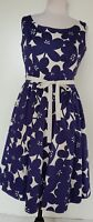 BODEN Blue/Ivory Floral Dress Size 10 NWOT