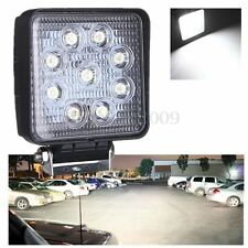 27W 12V 24V 9 LED Square Work SpotLight Lamp Tractor Truck SUV UTV ATV Off-road